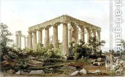 The Temple of Jupiter Panhellenios by (after) Dodwell, Edward - Reproduction Oil Painting