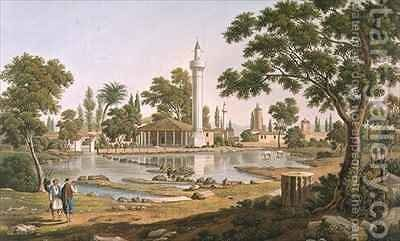 The Hyperian Fountain at Pherae by (after) Dodwell, Edward - Reproduction Oil Painting