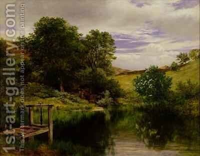 The Mill Dam Ardnaham by James Docharty - Reproduction Oil Painting