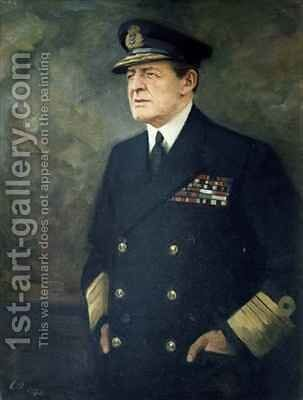 Portrait of the Admiral of the Fleet by Cowan Dobson - Reproduction Oil Painting