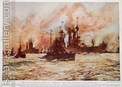 The Battle of the Dogger Bank by Charles Edward Dixon - Reproduction Oil Painting