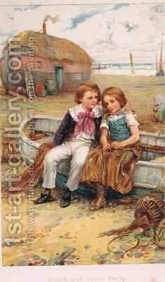 David and Little Emily by Arthur A. Dixon - Reproduction Oil Painting