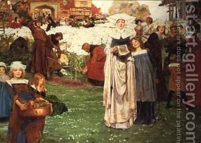 The Kings Garden or the Harvest of Labour by Arthur A. Dixon - Reproduction Oil Painting