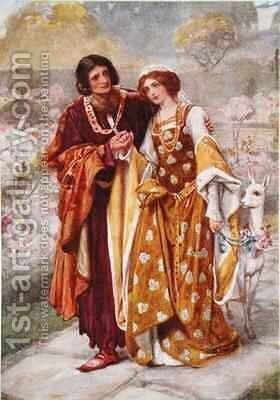Lord Ronald and Lady Clare by Arthur A. Dixon - Reproduction Oil Painting