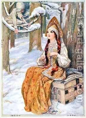From the Frost The Frost could not help admiring her by Arthur A. Dixon - Reproduction Oil Painting