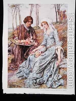 Geraint and Enid by Arthur A. Dixon - Reproduction Oil Painting