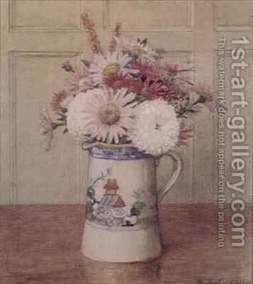 Asters Still Life by Arthur A. Dixon - Reproduction Oil Painting