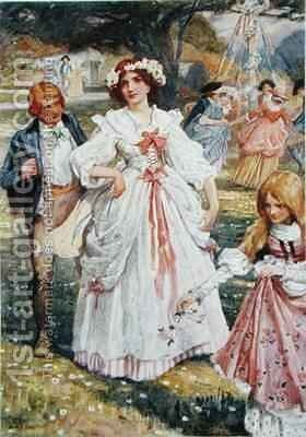 The May Queen by Arthur A. Dixon - Reproduction Oil Painting