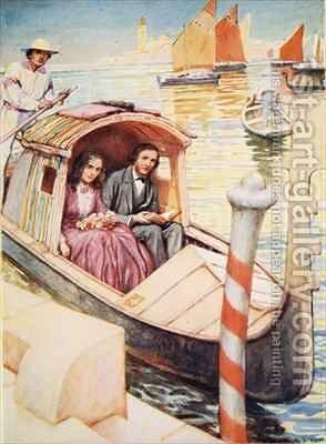 The Brownings in Venice by Arthur A. Dixon - Reproduction Oil Painting