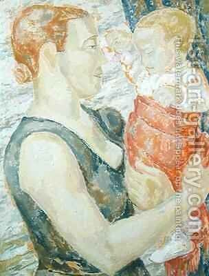 Mother and Child by Jessica Stewart Dismorr - Reproduction Oil Painting