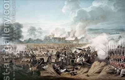Attack on the British Squares by French Cavalry at the Battle of Waterloo by Denis Dighton - Reproduction Oil Painting