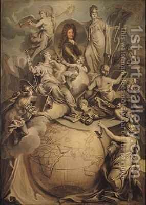 Allegory of Philippe II 1674-1723 Duke of Orleans by Antoine Dieu - Reproduction Oil Painting