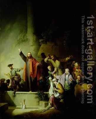 The Raising of Lazarus by Christian Wilhelm Ernst Dietrich - Reproduction Oil Painting