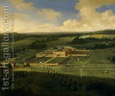 Birds eye view of Dunham Massey by Adriaen Van Diest - Reproduction Oil Painting