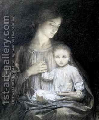Mother and Child by Sir Frank Dicksee - Reproduction Oil Painting