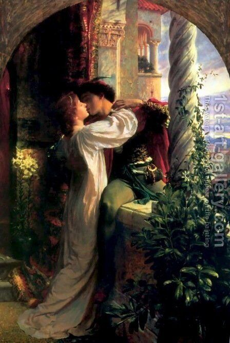 Romeo and Juliet by Sir Frank Dicksee - Reproduction Oil Painting