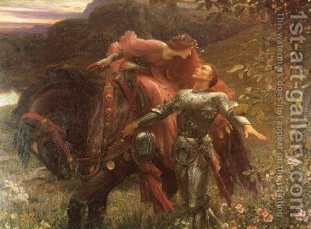 La Belle Dame Sans Merci by Sir Frank Dicksee - Reproduction Oil Painting
