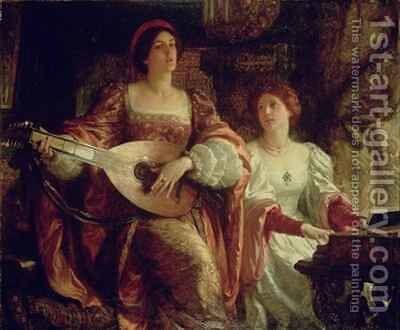 The Duet by Sir Frank Dicksee - Reproduction Oil Painting