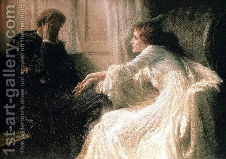 The Confession by Sir Frank Dicksee - Reproduction Oil Painting