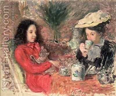 Tea Time by Emile Alfred Dezaunay - Reproduction Oil Painting