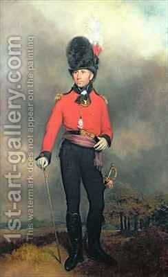 Portrait of William Pitt Earl Amherst of Arracan 1773-1857 in the uniform of the St Jamess Loyal Volunteer Regiment by Arthur William Devis - Reproduction Oil Painting
