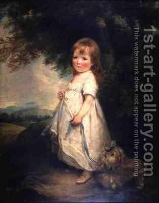 Miss Anderson with her dog by Arthur William Devis - Reproduction Oil Painting