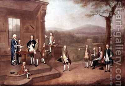Breaking up day at Dr Claytons School by Arthur Devis - Reproduction Oil Painting