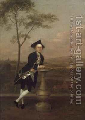 Portrait of William Ingle by Arthur Devis - Reproduction Oil Painting
