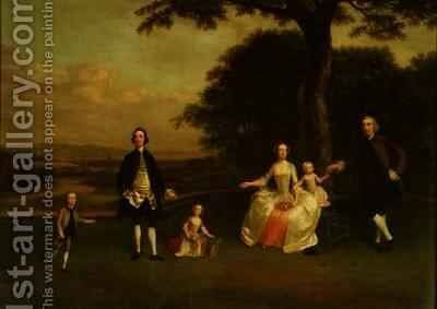 The Till Family by Arthur Devis - Reproduction Oil Painting