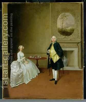 Mr and Mrs Hill by Arthur Devis - Reproduction Oil Painting