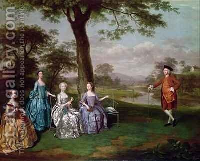 The Rookes Leeds family by Arthur Devis - Reproduction Oil Painting