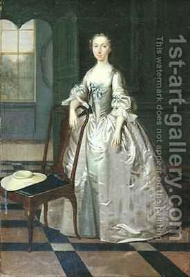 A Lady in a Drawing Room by Arthur Devis - Reproduction Oil Painting