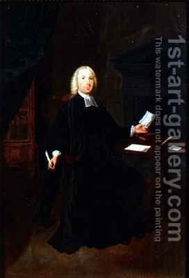 Portrait of the Rev William Farington Vicar of Leigh in Lancashire by Arthur Devis - Reproduction Oil Painting