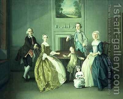 Family Group by Arthur Devis - Reproduction Oil Painting