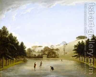 Upton House from the South by Anthony Devis - Reproduction Oil Painting