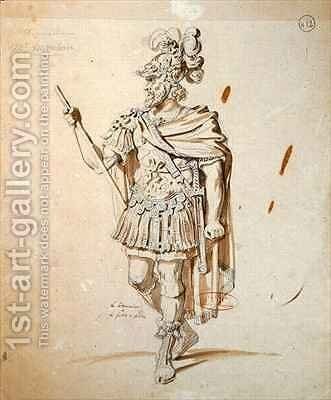 Costume design for the role of Le Commandeur by Achille-Jacques-Jean-Marie Deveria - Reproduction Oil Painting