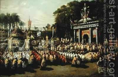 Procession of the Holy Sacrament by Antoine Detrez - Reproduction Oil Painting