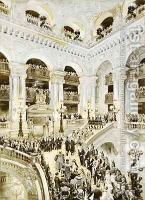 Inauguration of the Paris Opera House by Jean Baptiste Edouard Detaille - Reproduction Oil Painting