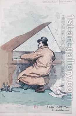 Emmanuel Chabrier 1841-94 at the piano by (after) Detaille, Jean-Baptiste Edouard - Reproduction Oil Painting