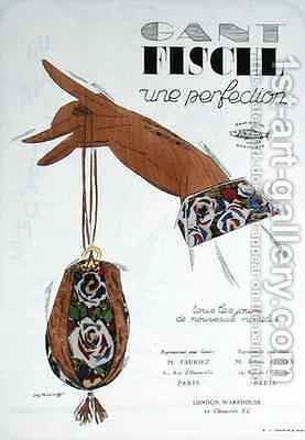 Advertisement for Fischl gloves by Desroches - Reproduction Oil Painting