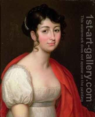 Portrait of Madame Camille Teisseire by Jean Baptiste Francois Desoria - Reproduction Oil Painting