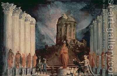 Destruction of the Temple of Jerusalem by Titus by Monsu Desiderio - Reproduction Oil Painting