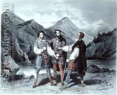 The Oath of the Three Cantons by Celestin Deshayes - Reproduction Oil Painting