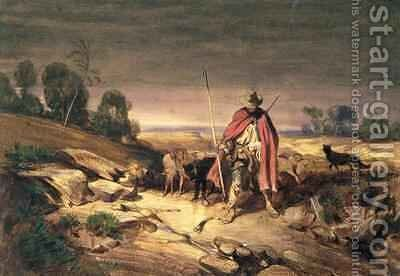 The Return of the Shepherd by Gabriel-Alexandre Descamps - Reproduction Oil Painting