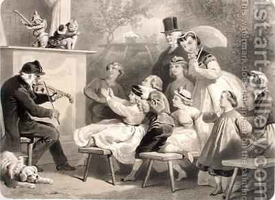 The Theatre Guignol Champs Elysees by (after) Desandre, Jules Marie - Reproduction Oil Painting