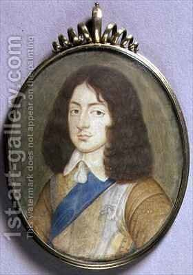 Portrait Miniature of Charles II 1630-85 by David Des Granges - Reproduction Oil Painting