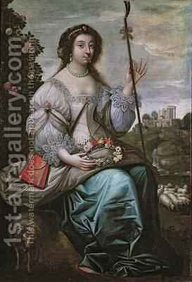 Julie d'Angennes 1607-71 as Astree by Claude Deruet - Reproduction Oil Painting