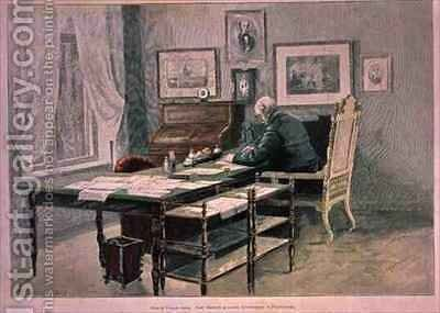 Prince Bismarck in his study at Friedrichsruh by Henriette Deppermann - Reproduction Oil Painting