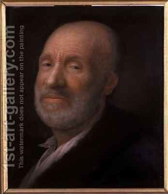 Portrait of an old man by Balthasar Denner - Reproduction Oil Painting