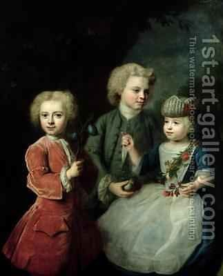 The Children of Councillor Barthold Heinrich Brockes 1680-1747 by Balthasar Denner - Reproduction Oil Painting